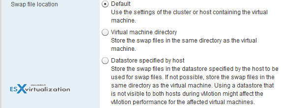 Change default swap file location