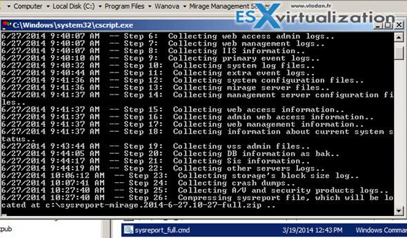 VMware Mirage SysReport