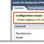 System Logging is not configured on ESXi host