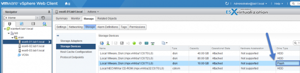 How to tag a disk as SSD in VMware vSAN 6.0