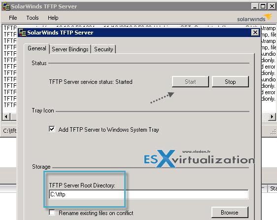 Setup of TFTP server on vCenter server