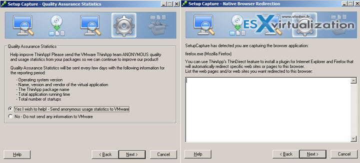 VMware ThinApp Virtualization Packager