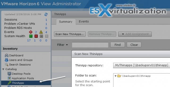 VMware Horizon View - Creating and configuring Thinapp Repository