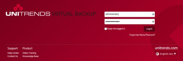 Unitrends Virtual Backup 8.0