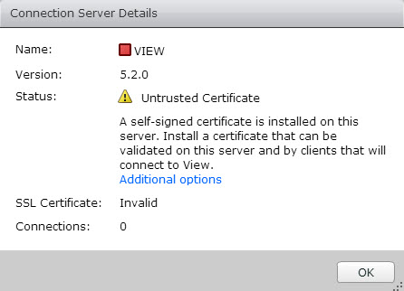 VMware View 5.2 Untrusted SSL certificate