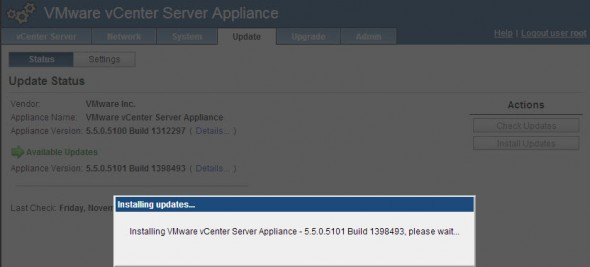 update vcsa 590x267 VMware vCenter Server 5.5.0a update available