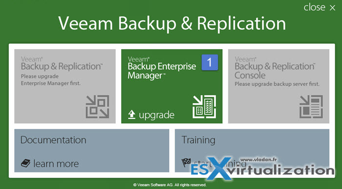 Upgrade to Veeam 9