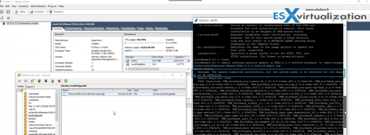 Upgrade ESXi 6.0 to ESXi 6.5 via VMware Offline Bundle