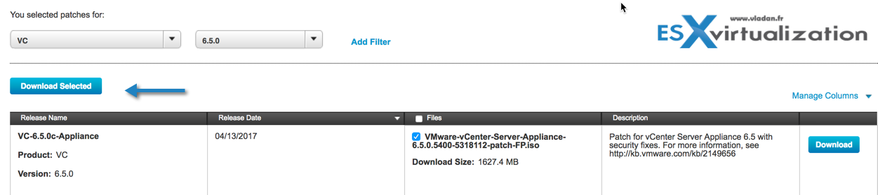 How to patch VMware VCSA 6 5 via ISO patch downloaded from VMware