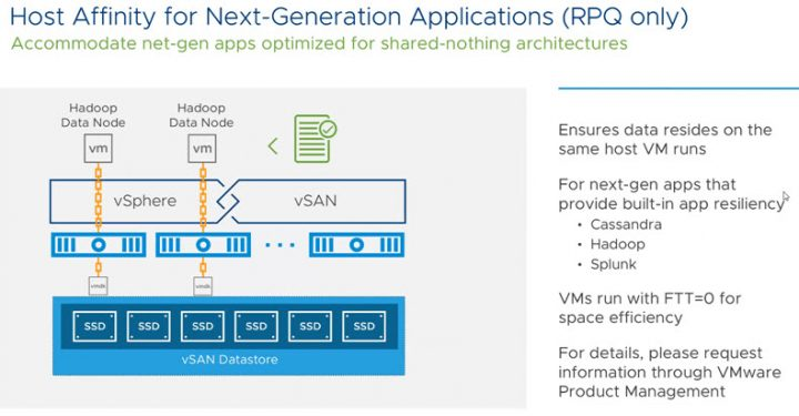 VMware vSAN 6.7 Host Affinity for Next-Gen Applications