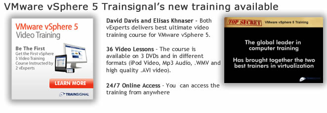 VMware vSphere 5 – new training available from TrainSignal