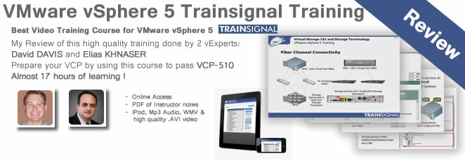 VMware vSphere 5 Training – My review of latest Trainsignal's Training