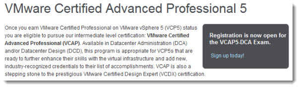 vSphere-5 VCAP5-DCA - See Trainings on VMware Education Page
