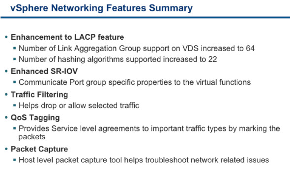 vSphere 5.5 networking - new features and enhancments