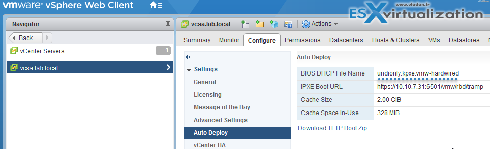 Prepare the DHCP Server for vSphere Auto Deploy Provisioning
