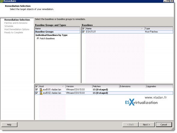 How to update vSphere 5 to vSphere 5 U1 using update manager