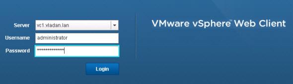 vSphere 5 Web Client console