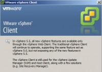 vSphere 5.5 Windows Client