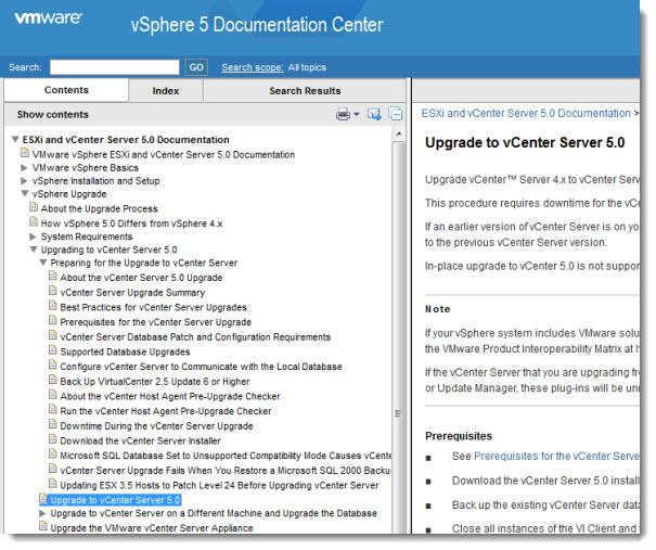 VMware vSphere 5 documentation center