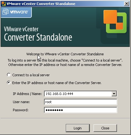 vcenter converter How to P2V linux into VMware ESX Server