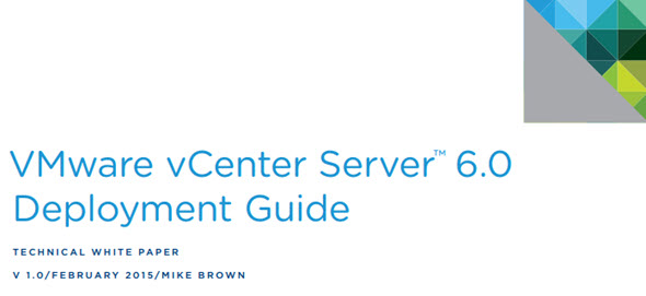 VMware vCenter Server™ 6.0 Deployment Guide