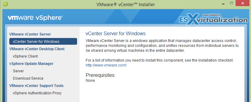 vCenter Server 6 Windows Installation