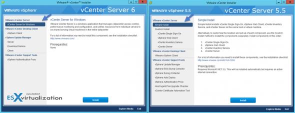 vCenter Server 6 vs vCenter Server 5.5