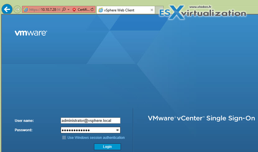 Configure vCenter server 6 after installation