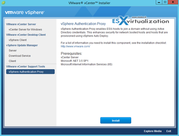 vCenter Server 6 Authentication Proxy