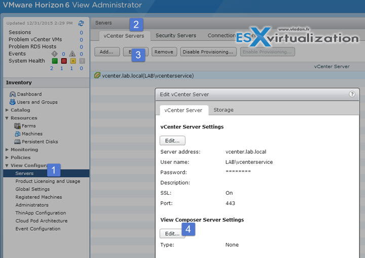 VCP6-DTM Objective 2.1 - Configure Horizon (with View) Composer