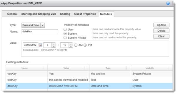 vCloud Director 5.1 vApp Properties