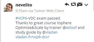 vcp6 passed!!!