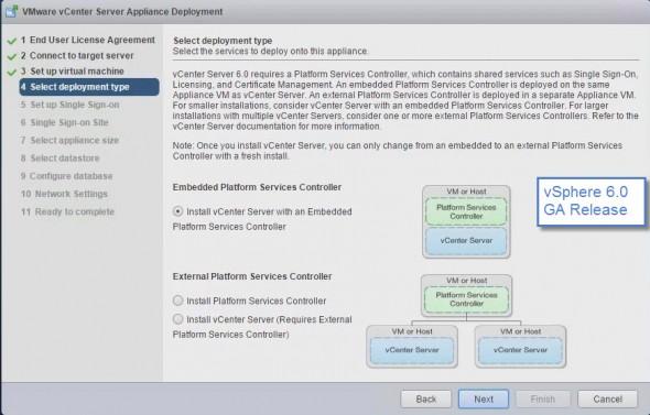 VCSA GA Release Install screen