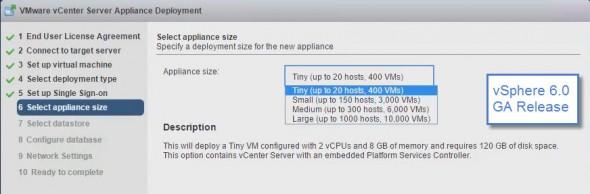VMware vCSA 6.0 GA release