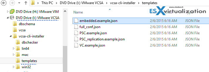 vCenter appliance 6 scripted installation