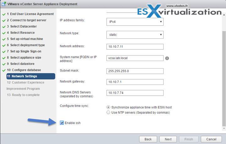 VMware VCSA - Enable SSH