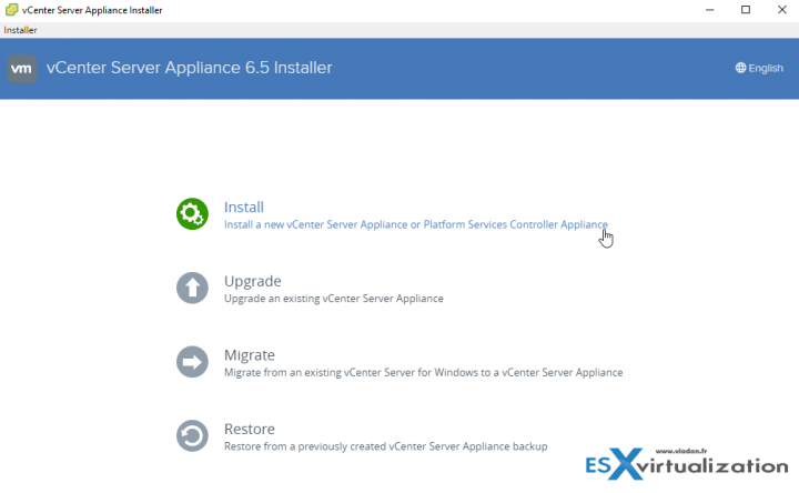 VMware vCenter Server Appliance 6.5 (VCSA) Installation