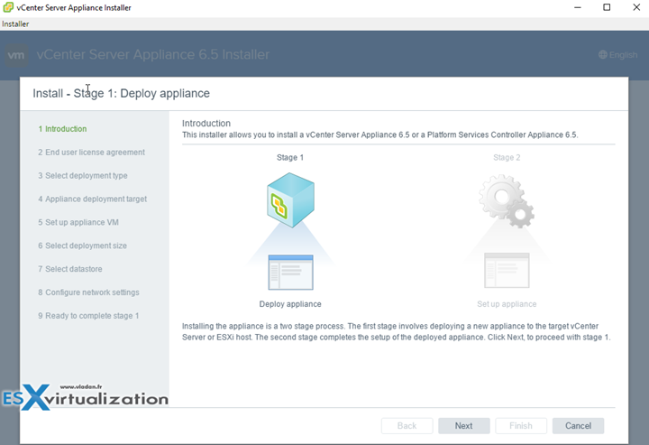 How to deploy VMware VCSA 6.5