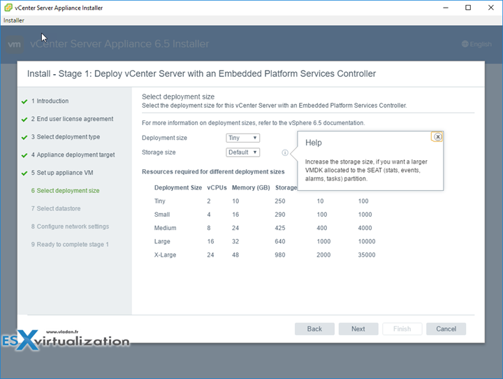 How to deploy VMware VCSA 6.5 clean