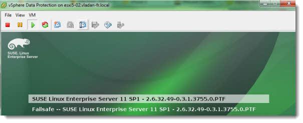 vSphere Data Protection - Suse Linux Enterprise Server Virtual Appliance
