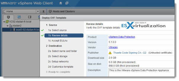 VMware vSphere Data Protection - implementing this Backup solution