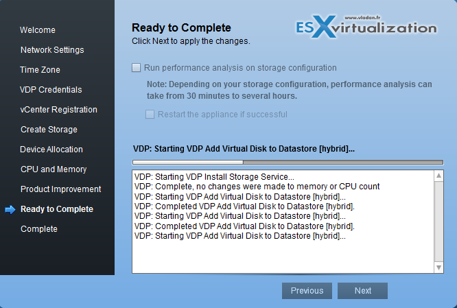 Deployment of vSphere data protection