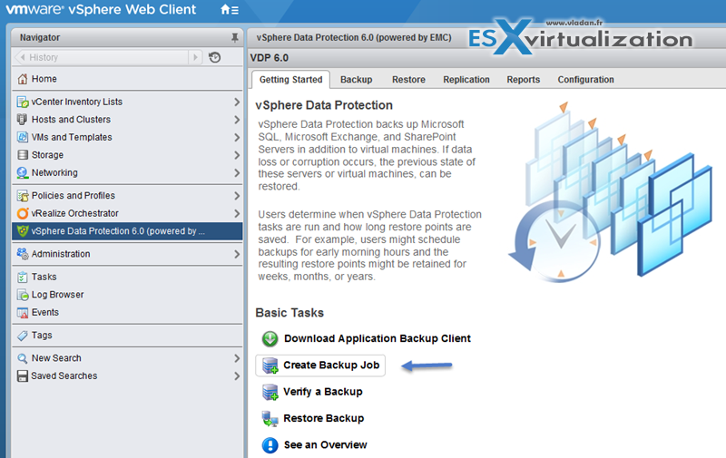 VMware VDP - Create first backup job