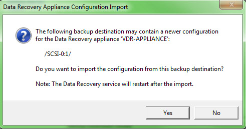 Upgrade VMware Data Recovery