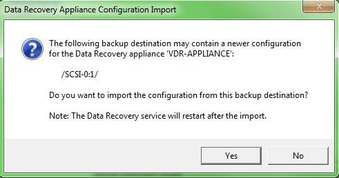 Upgrade VMware Data Recovery