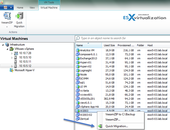 Migration VMware VMs with Veeam Backup and Replication Free Version