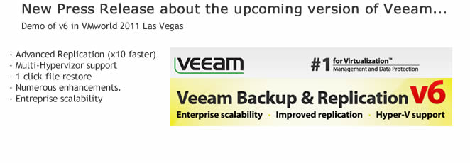Veeam Backup and replication v 6.0 News