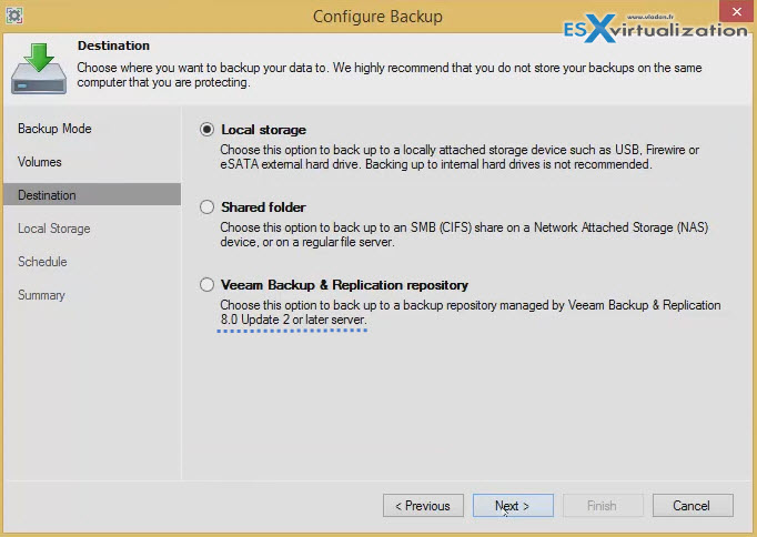 Free Veeam Endpoint Backup Released   ESX Virtualization