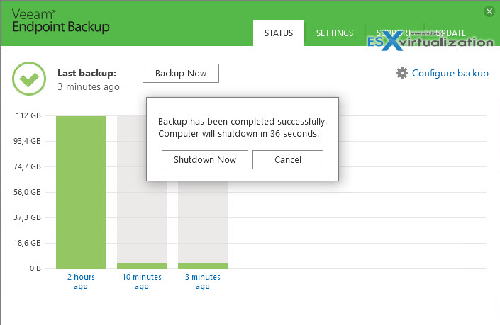 Veeam Endpoint Backup 1.1