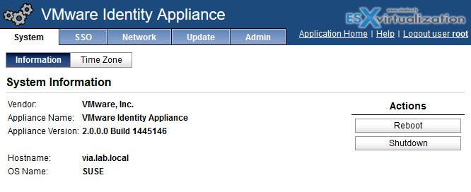 VMware Identity Appliance